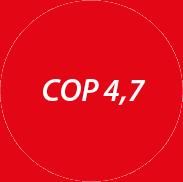 Topný faktor tepelného čerpadla vzduch/voda